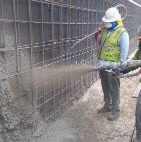 Торкретирование бетонного покрытия Stoffmark