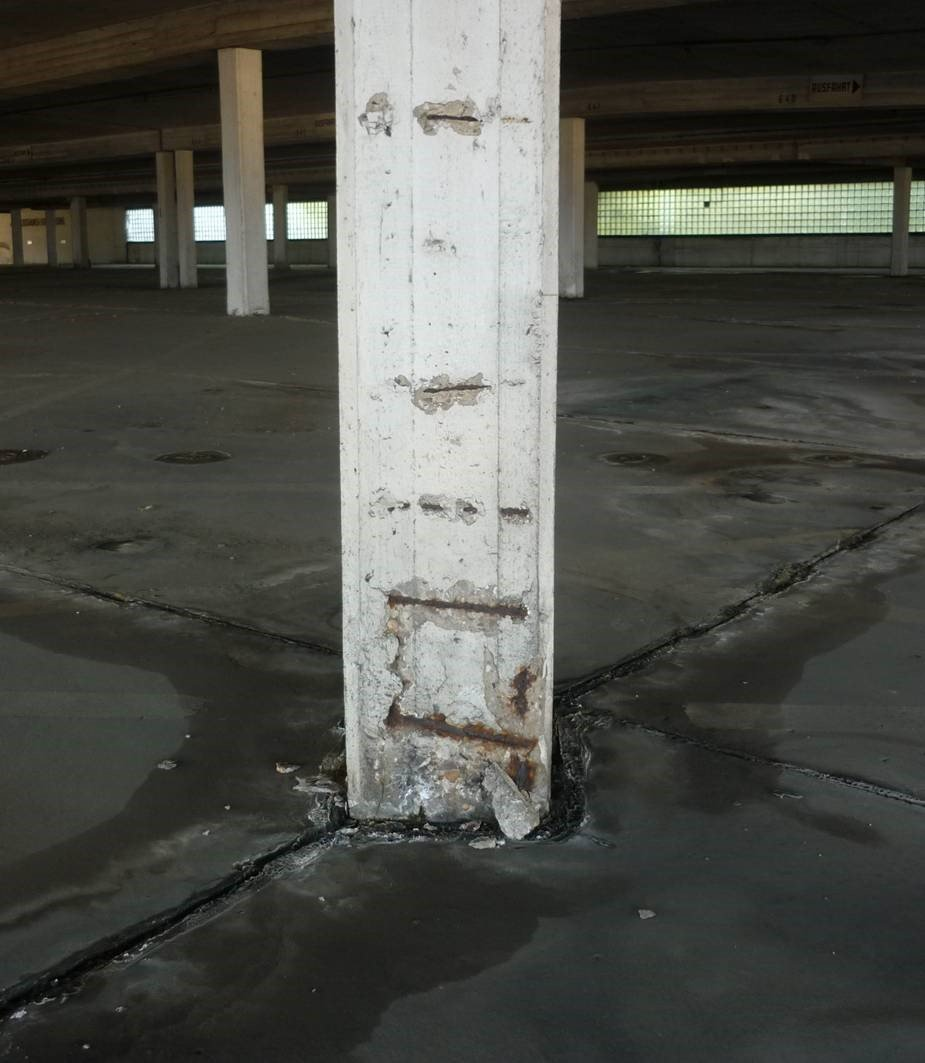 Железобетонные конструкции паркинга ремонт