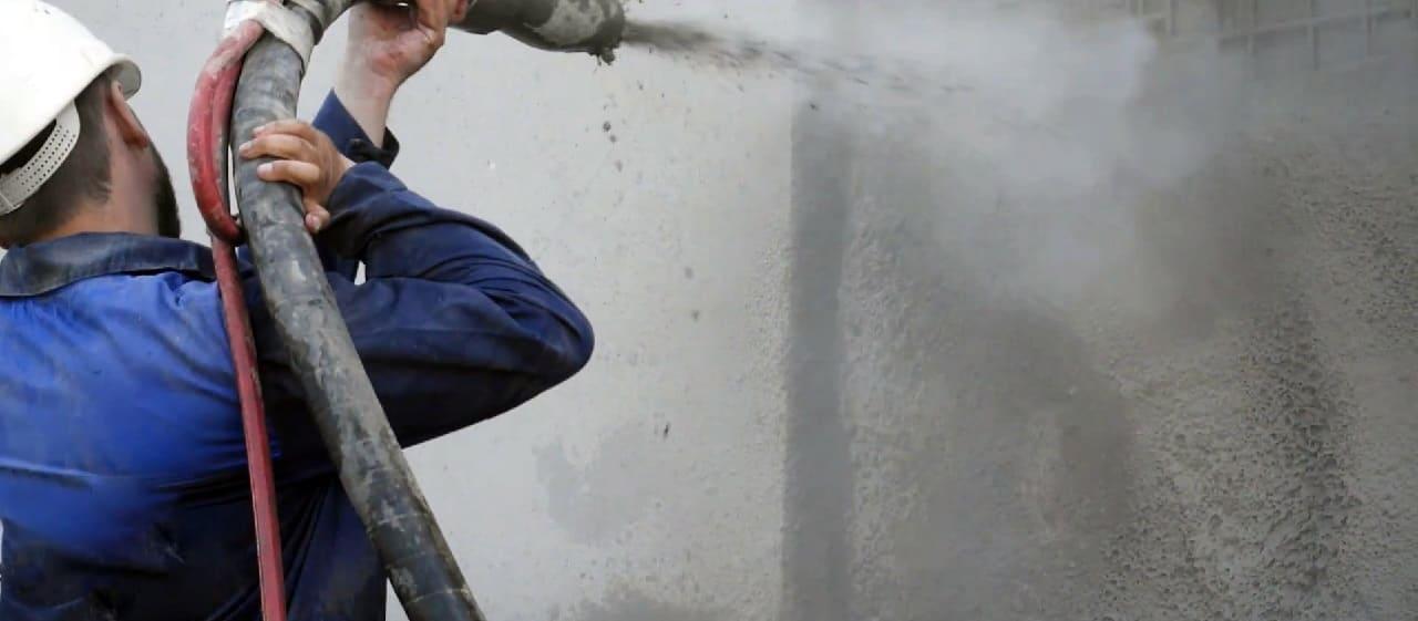 Услуги торкретирования бетона